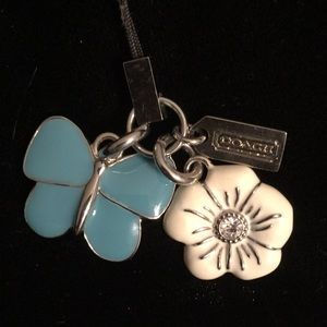 Coach Butterfly & Flower Charms